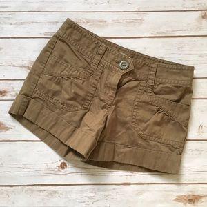 Ann Taylor LOFT dark khaki cargo shorts